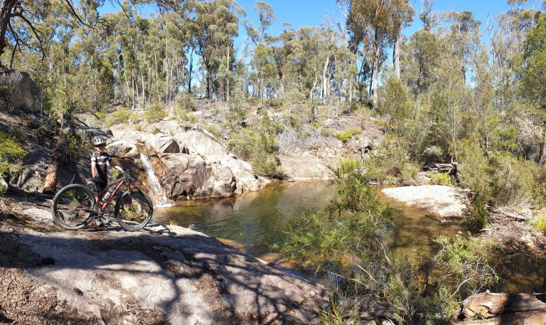 Guided a young student to the Dreaming Pools trail in St Helens - MTB Tasmania